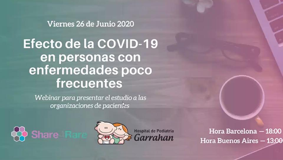 Efectos de la COVID19 en personas con Enfermedades Poco Frecuentes