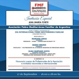 Invitación a la actividad por el Día Mundial de la Fiebre Mediterránea Familiar