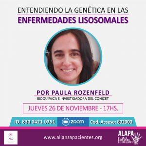 """Charla """"Entendiendo la Genética en las Enfermedades Lisosomales"""""""