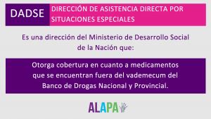 DADSE es una dirección del Ministerio de Desarrollo Social de la Nación.